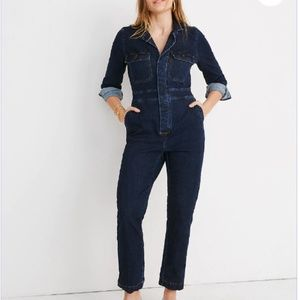 MADEWELL Dark Denim Slim Coverall Jumpsuit Sz 2!